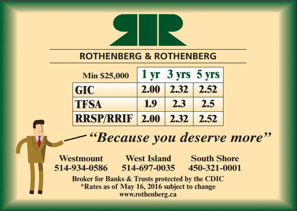 ROTHENBERG-GIC-TFSA-RRSP-RRIF-1-3-5-YRS-MAY2016