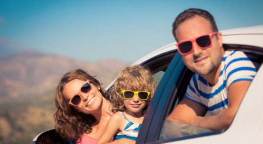 39362990 - family on vacation. summer holiday and car travel concept